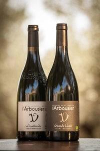 Photo portrait - coffret - 2 bouteilles vin rouge biologique - Grande Cuvée - L'Inattendu - Grès de Montpellier - Domaine Saint Jean de l'Arbousier Montpellier