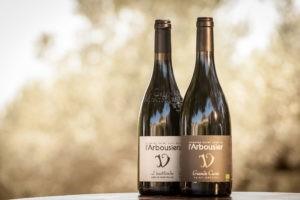 Photo paysage - coffret - 2 bouteilles vin rouge biologique - Grande Cuvée - L'Inattendu - Grès de Montpellier - Domaine Saint Jean de l'Arbousier Montpellier