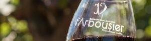 Photo bandeau - verre vin rouge - Insolite - Domaine Saint Jean de l'Arbousier