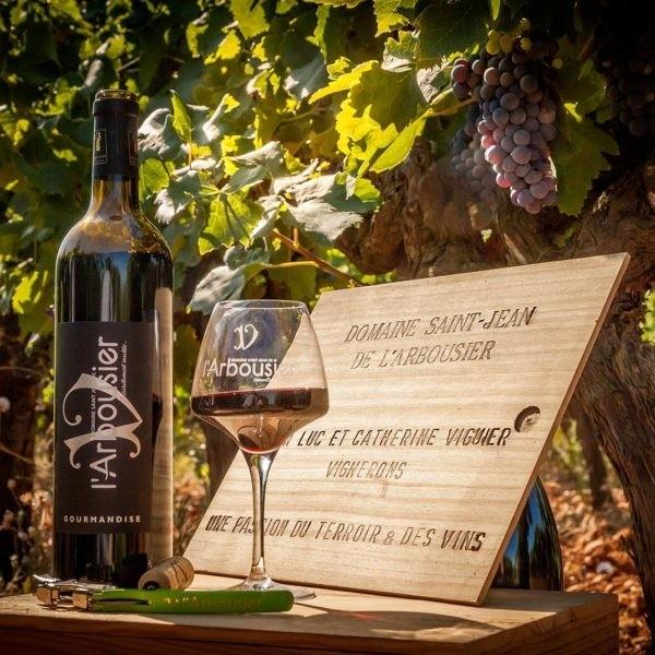 Photo – Composition Vin bouteille verre – Gourmandise – carte-cadeau