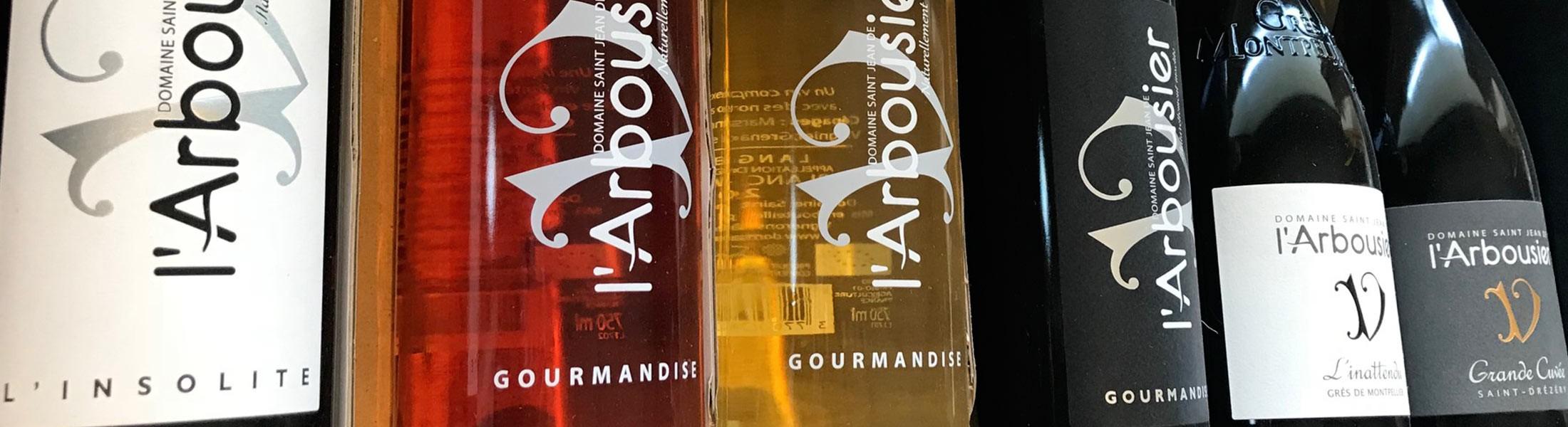 Carton découverte de vins Domaine de l'Arbousier