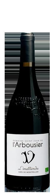 Photo fond png - bouteille de vin - rouge - l'Inattendu - AOP Grès de Montpellier