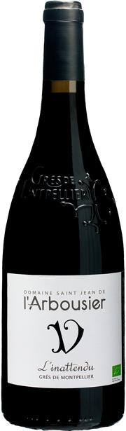 Photo fond png 3 - bouteille de vin - rouge - l'Inattendu - Grès de Montpellier