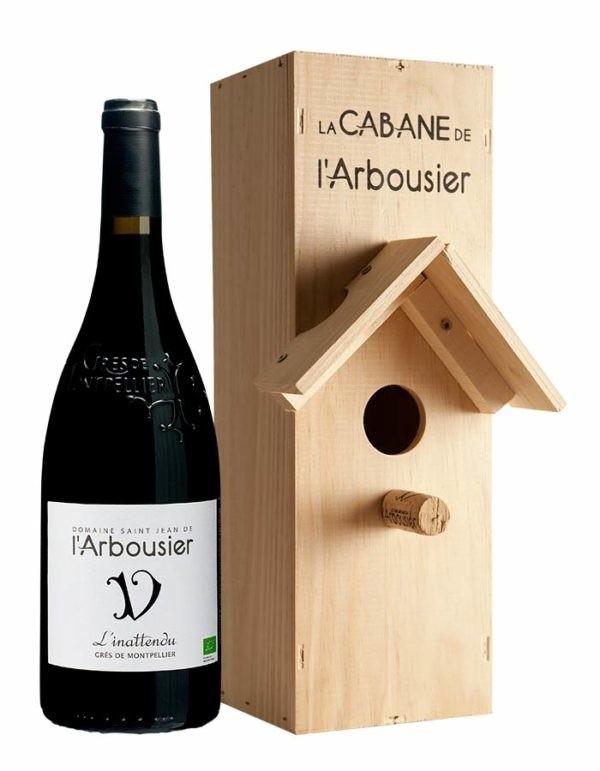 Photo – bouteille de vin – rouge – l'Inattendu – Grès de Montpellier – Nichoir